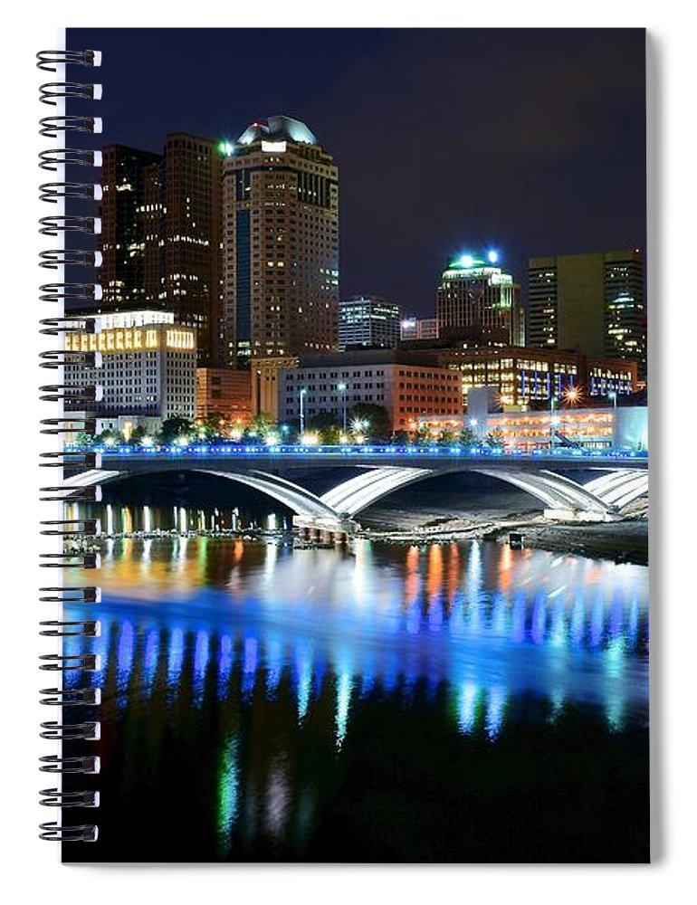 Columbus Spiral Notebook featuring the photograph Colorful Columbus by Frozen in Time Fine Art Photography