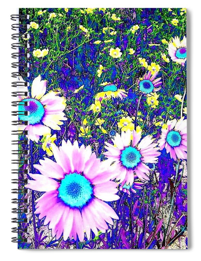 Photo Design Spiral Notebook featuring the digital art Colormax 2 by Will Borden