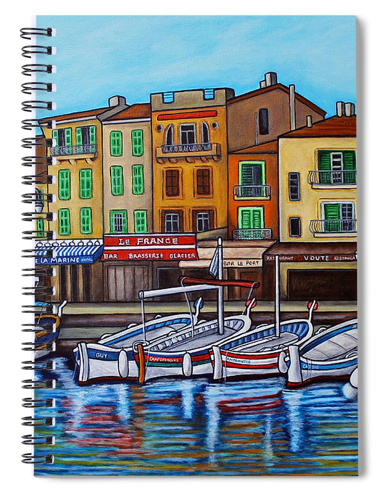 Cassis Spiral Notebook featuring the painting Colours of Cassis by Lisa Lorenz
