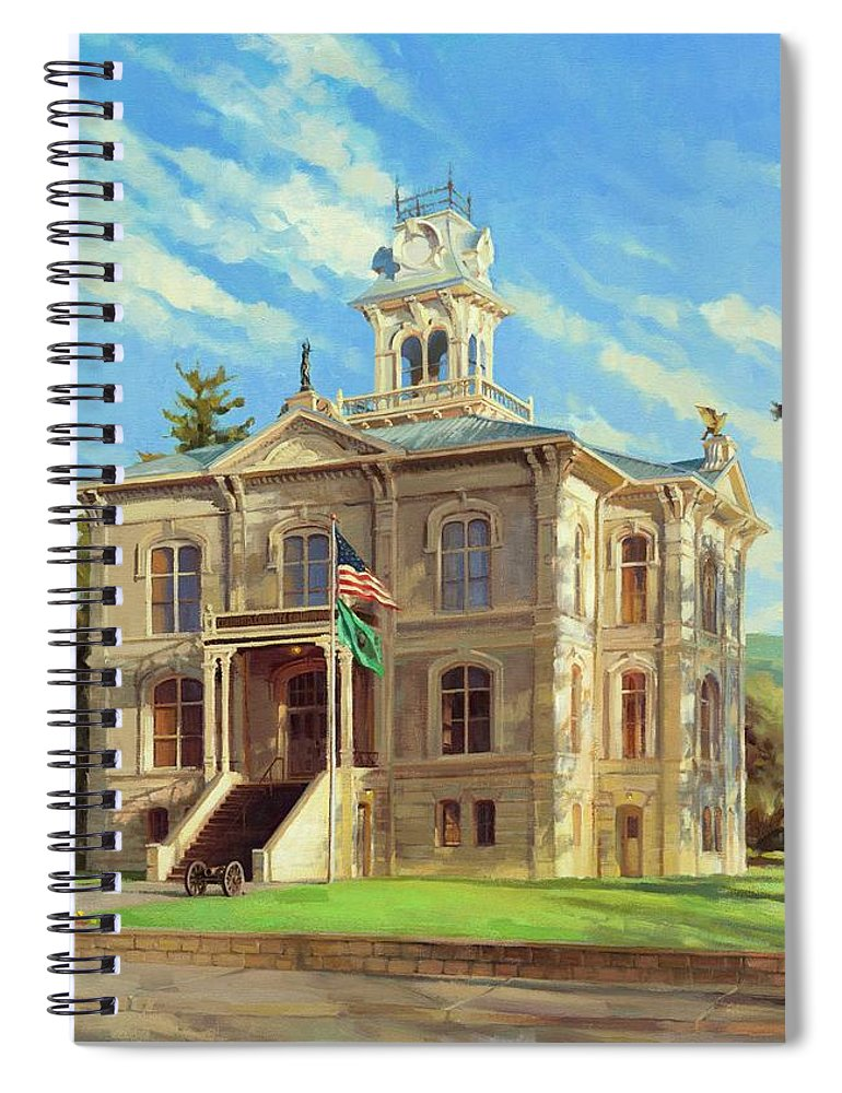 Courthouse Spiral Notebook featuring the painting Columbia County Courthouse by Steve Henderson