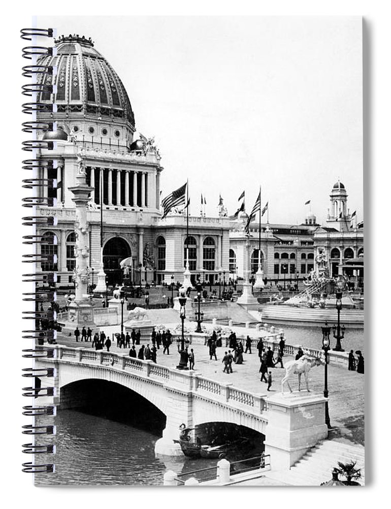 -event- Spiral Notebook featuring the photograph Columbian Expo, 1893 by Granger