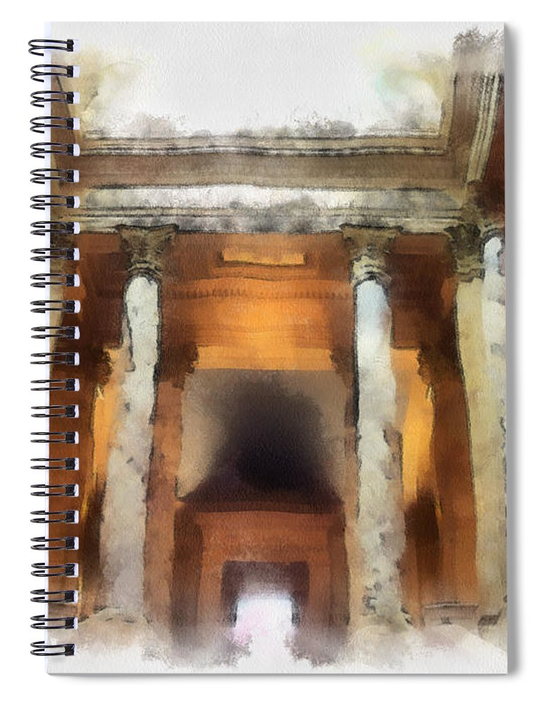 Columns Spiral Notebook featuring the photograph Columns by Paulette B Wright