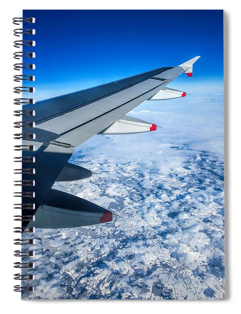 Airplane Spiral Notebook featuring the photograph Come Fly With Me by Jasna Buncic