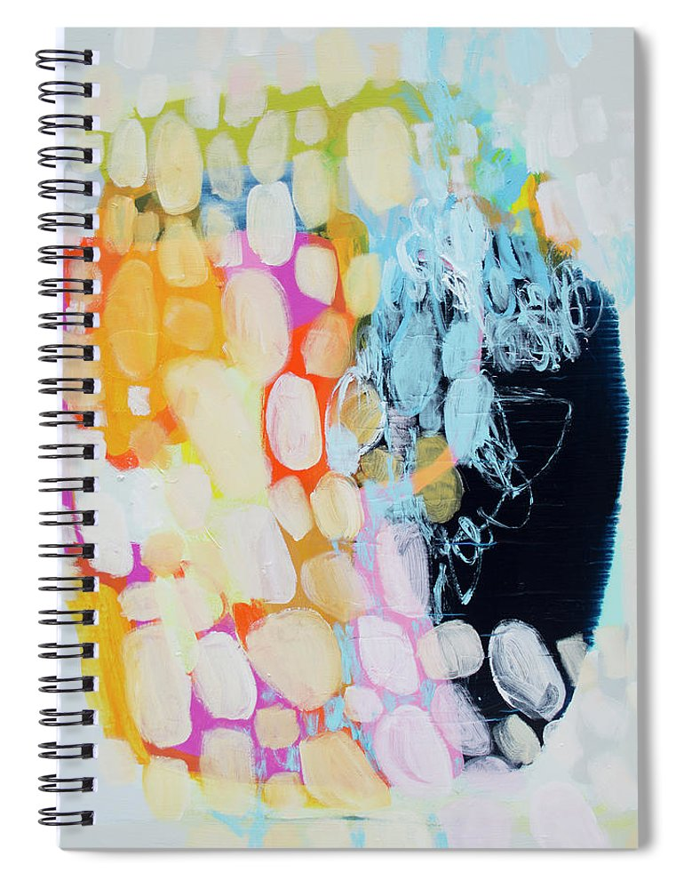 Abstract Spiral Notebook featuring the painting Come To Bed by Claire Desjardins