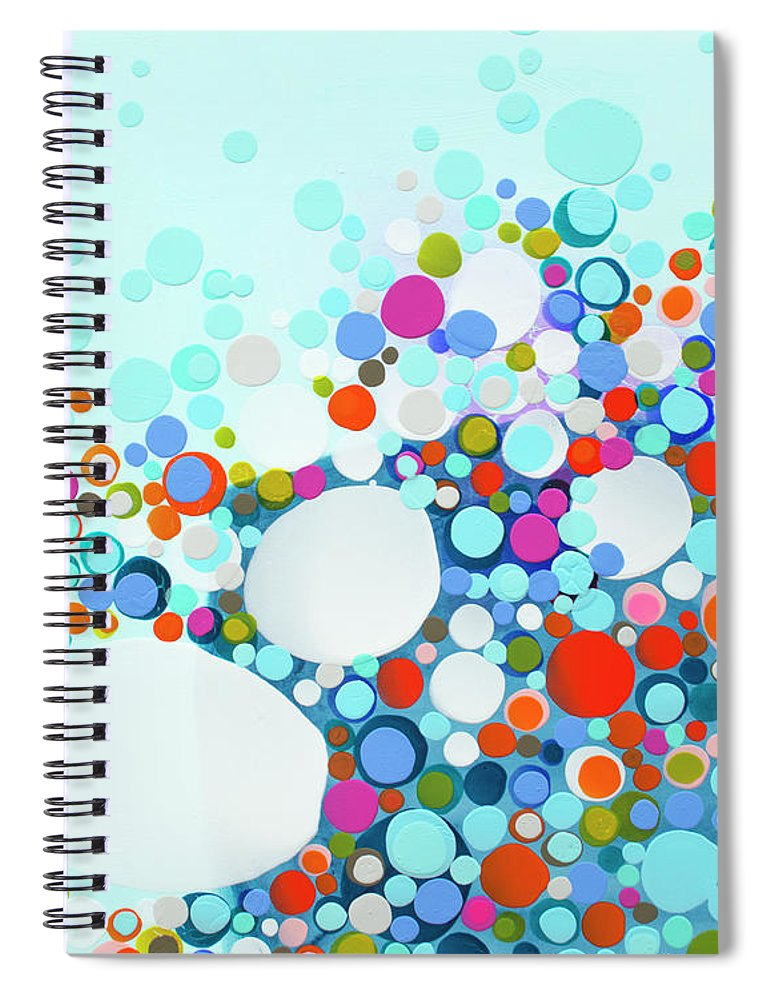 Abstract Spiral Notebook featuring the painting Comfortable In Chaos by Claire Desjardins