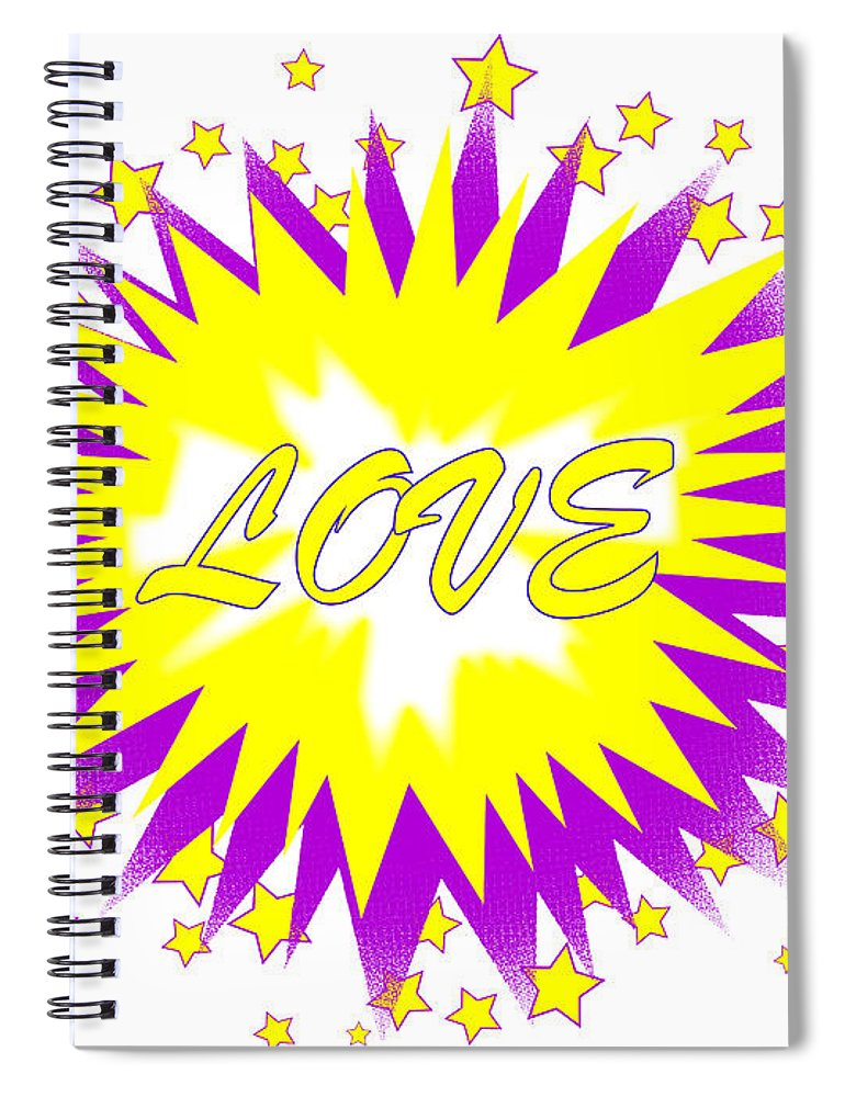 Love Spiral Notebook featuring the digital art Comic Love Balloon by Bigalbaloo Stock