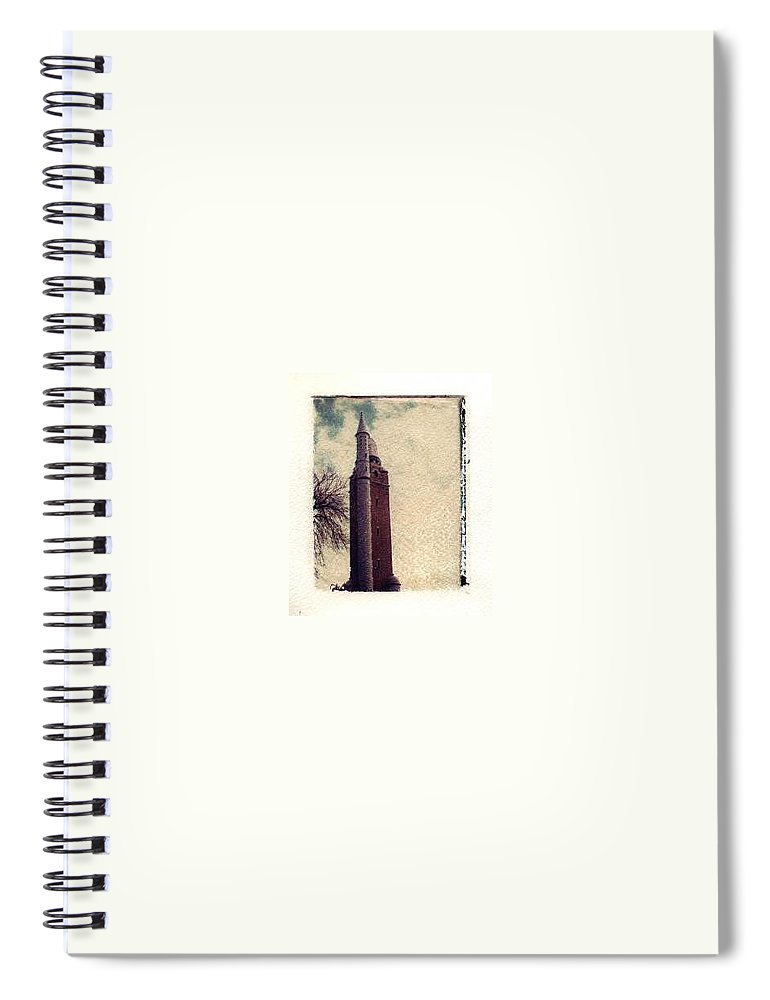 Polaroid Transfer Spiral Notebook featuring the photograph Compton Water Tower by Jane Linders