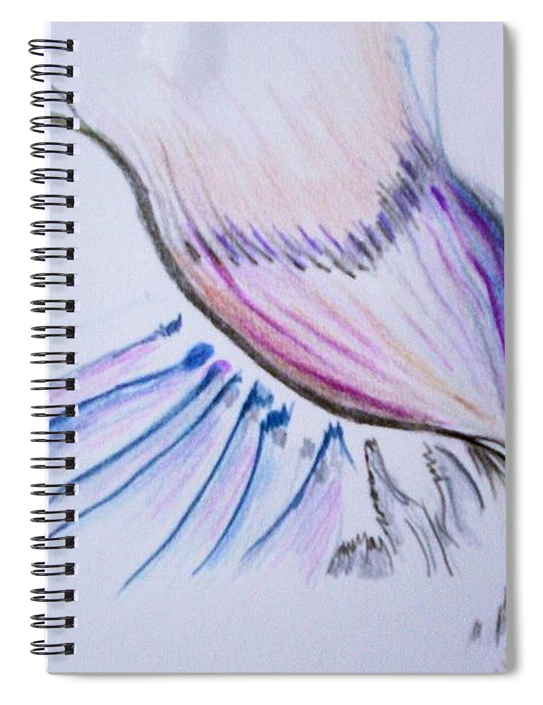 Abstract Painting Spiral Notebook featuring the painting Conception by Suzanne Udell Levinger