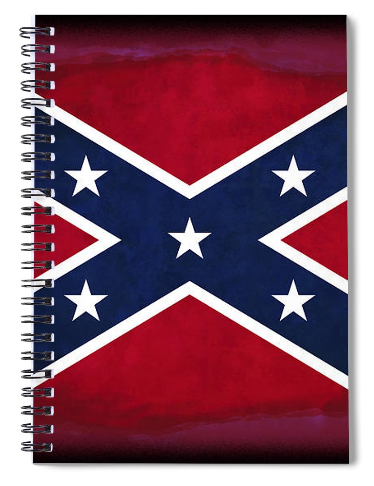 Confederate Flag Spiral Notebook featuring the digital art Confederate Rebel Battle Flag by Daniel Hagerman