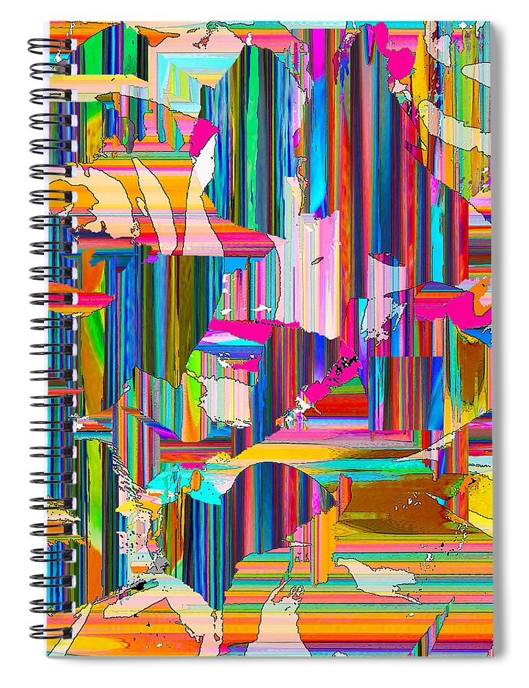 Stripes Spiral Notebook featuring the digital art Confusion by Ceil Diskin