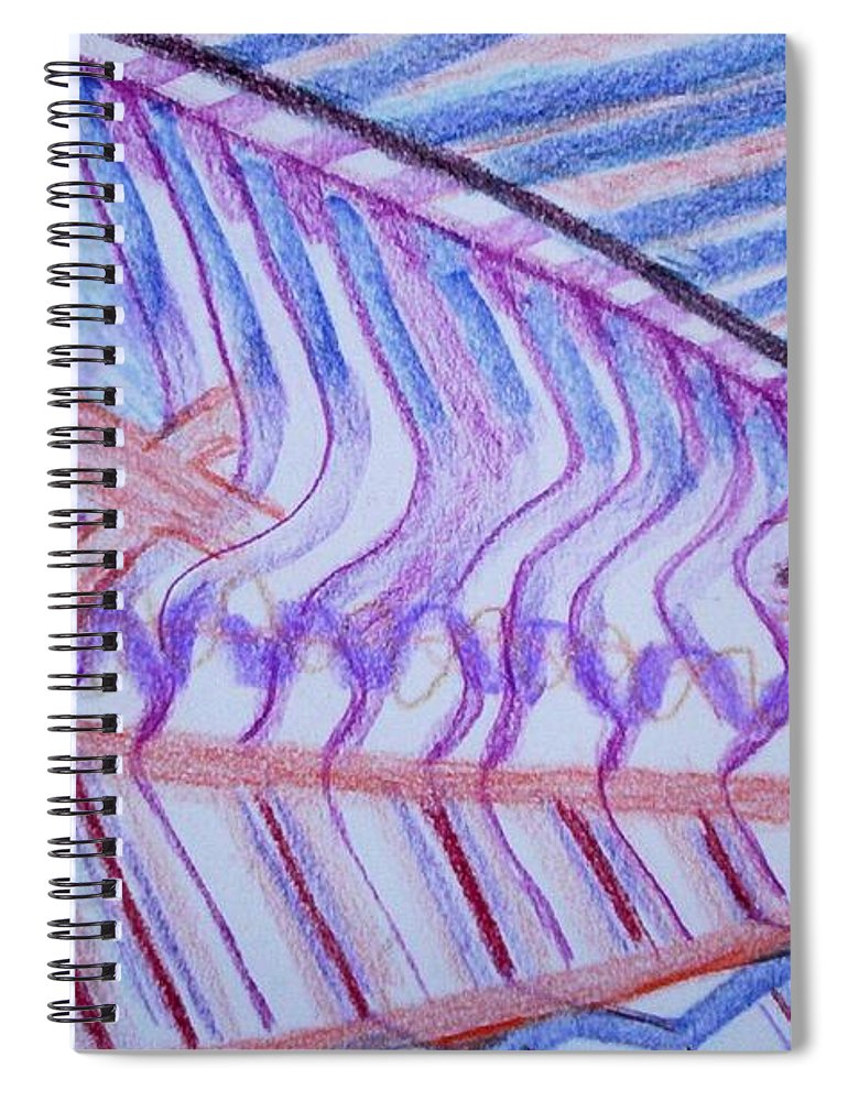 Abstract Spiral Notebook featuring the painting Construction by Suzanne Udell Levinger
