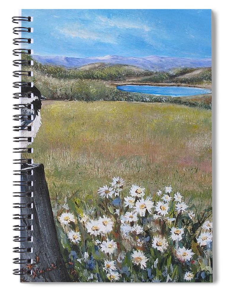 Rural Spiral Notebook featuring the painting Contemplating The Journey by Lisa Cini