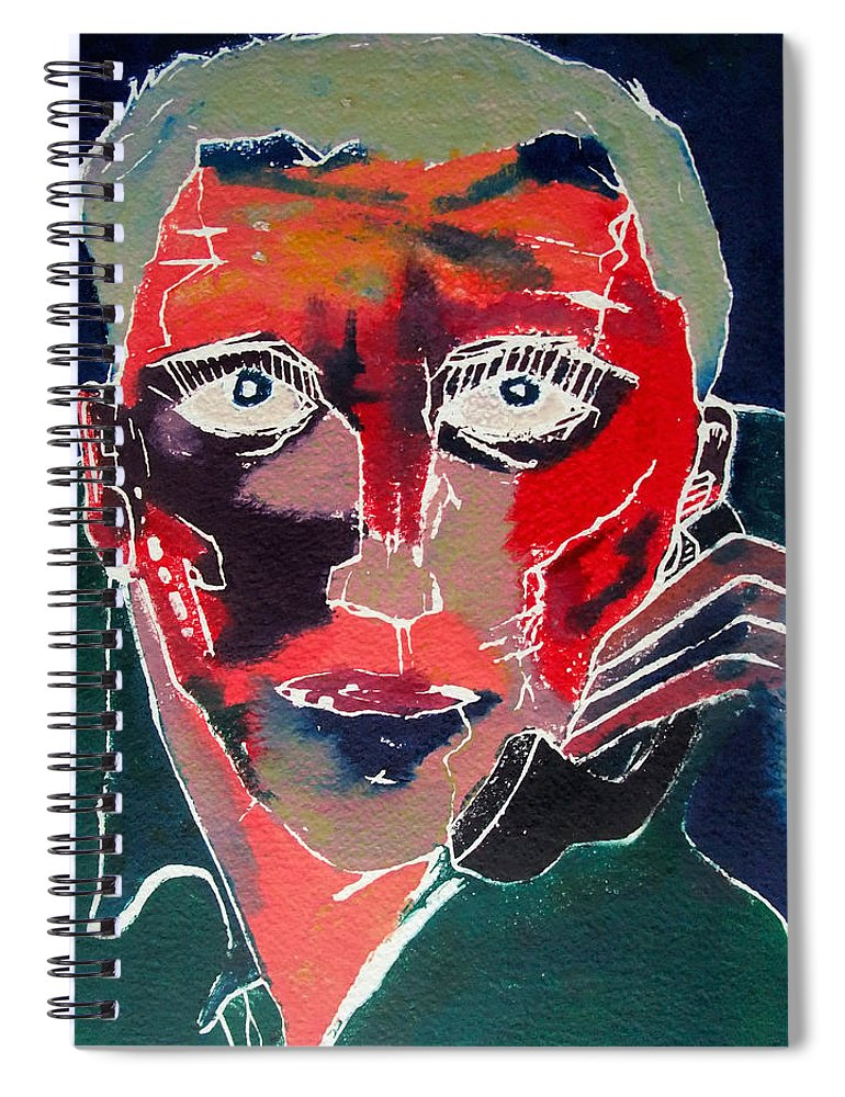 Phone Spiral Notebook featuring the painting Conversation by David Studwell
