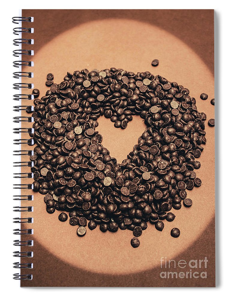 Chocolate Spiral Notebook featuring the photograph Cooking Desserts With Love by Jorgo Photography - Wall Art Gallery