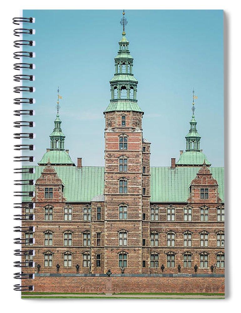 Denmark Spiral Notebook featuring the photograph Copenhagen Rosenborg Castle Back Facade by Antony McAulay