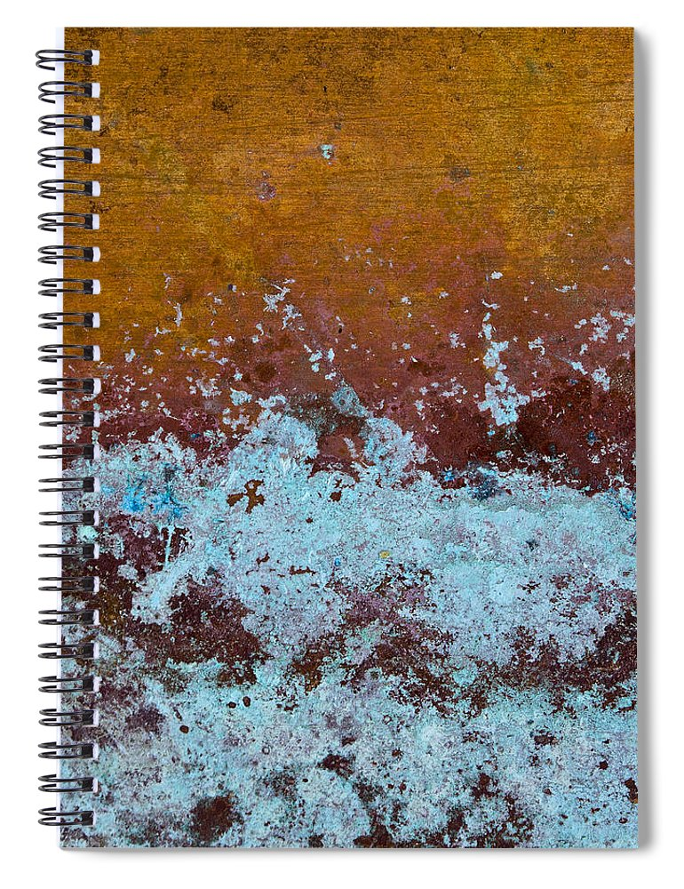 Copper Spiral Notebook featuring the photograph Copper Patina by Carol Leigh