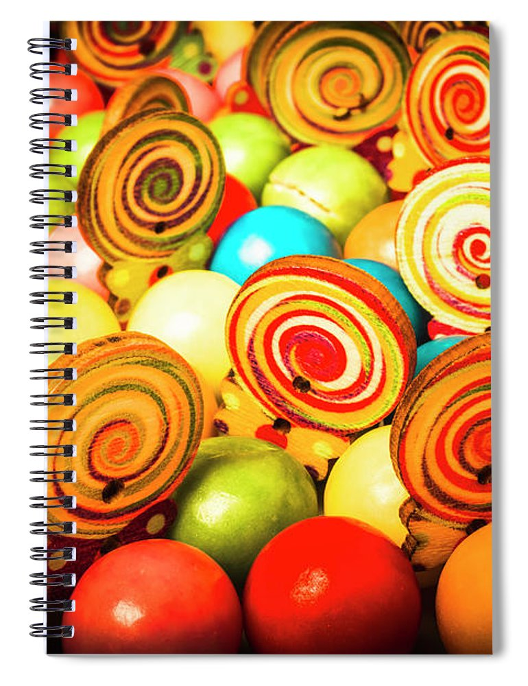 Colourful Spiral Notebook featuring the photograph Corner Store Candies by Jorgo Photography - Wall Art Gallery
