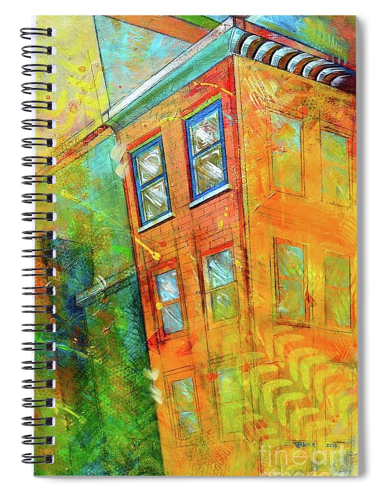 Building Spiral Notebook featuring the painting Cornice by Christopher Triner