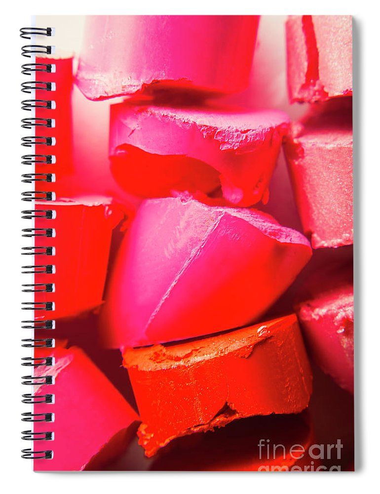 Colorful Spiral Notebook featuring the photograph Cosmetic Abstract by Jorgo Photography - Wall Art Gallery