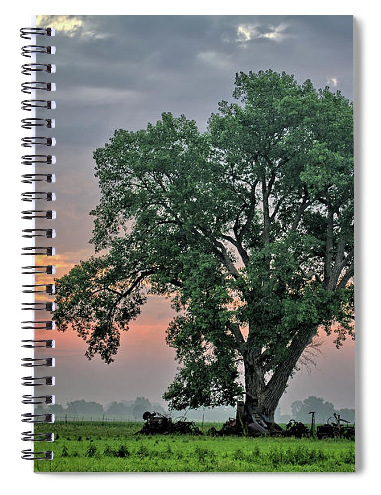 Cottonwood Spiral Notebook featuring the photograph Cottonwood Pasture 2 by Bonfire Photography