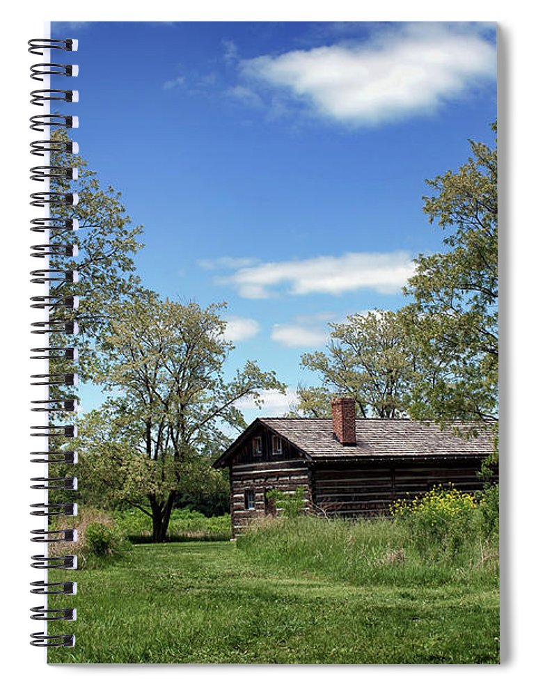 Council House Spiral Notebook featuring the photograph Council House - Fort Atkinson - Nebraska by Nikolyn McDonald
