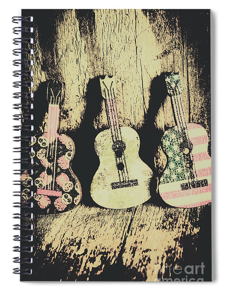Musical Spiral Notebook featuring the photograph Country And Western Saloon Songs by Jorgo Photography - Wall Art Gallery