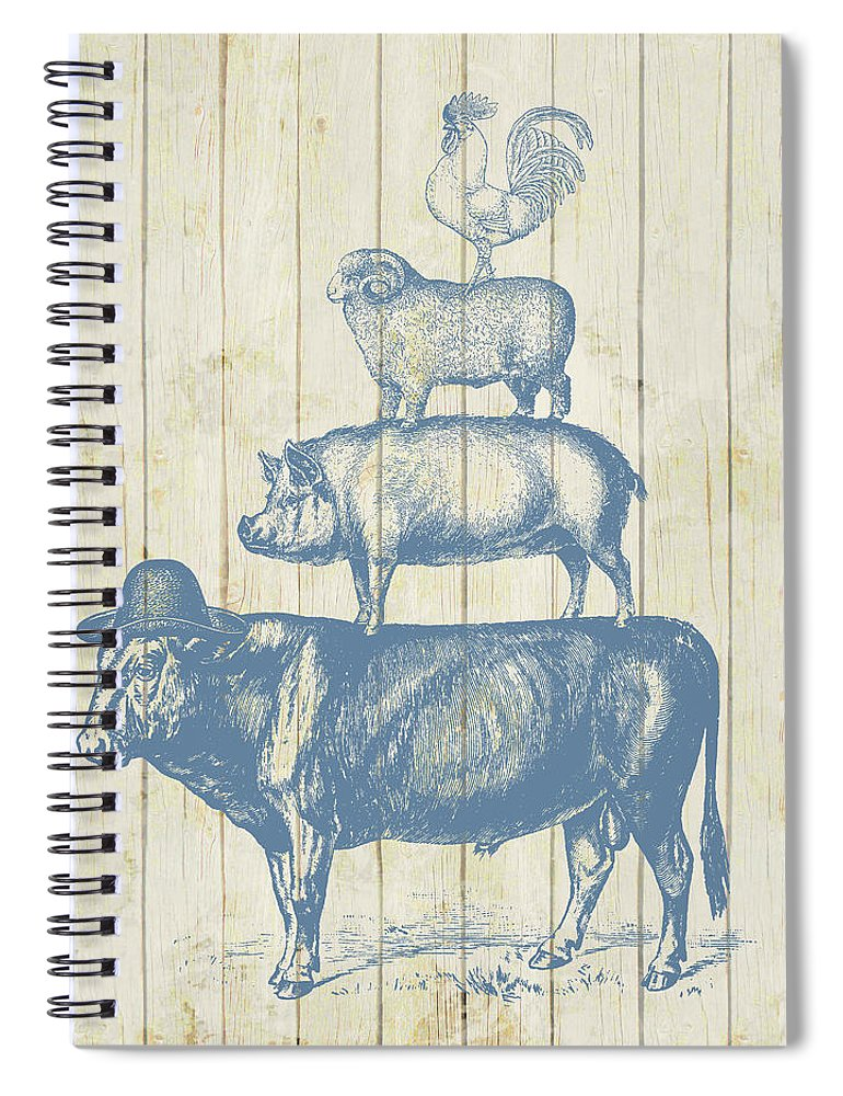 Farm Animals Spiral Notebook featuring the photograph Country Farm Friends by Brandi Fitzgerald