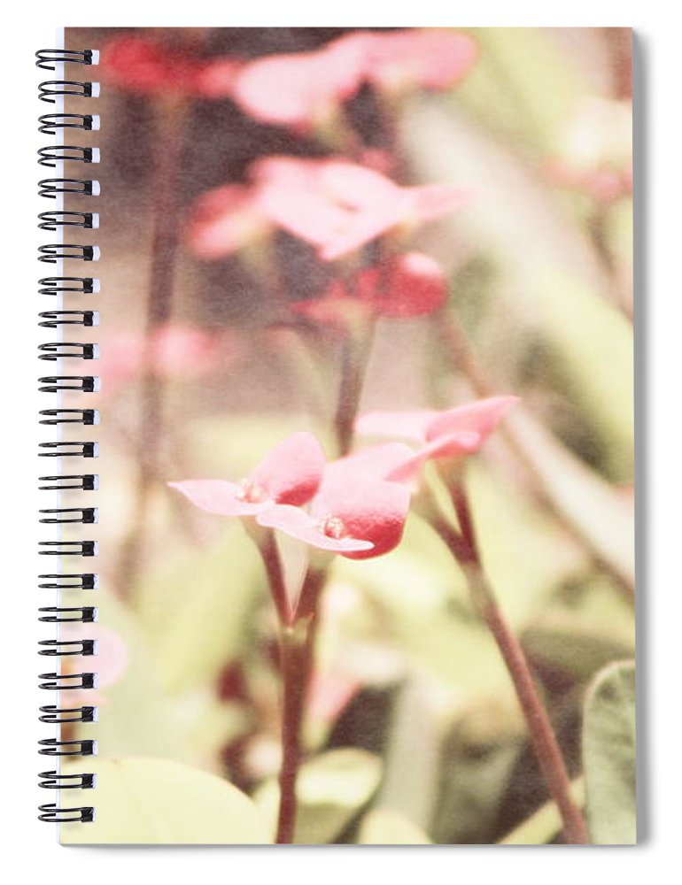 Prism Pink Spiral Notebook featuring the photograph Country Memories in Prism Pink by Colleen Cornelius