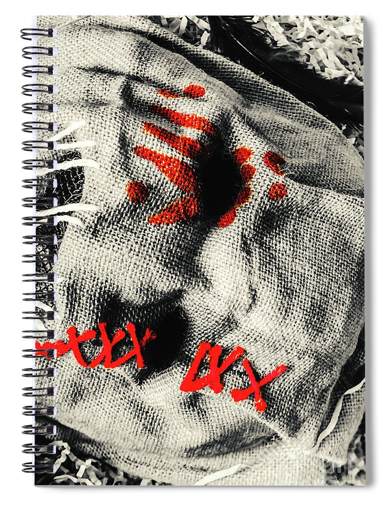 Scare Spiral Notebook featuring the photograph Countryside Of Terror by Jorgo Photography - Wall Art Gallery