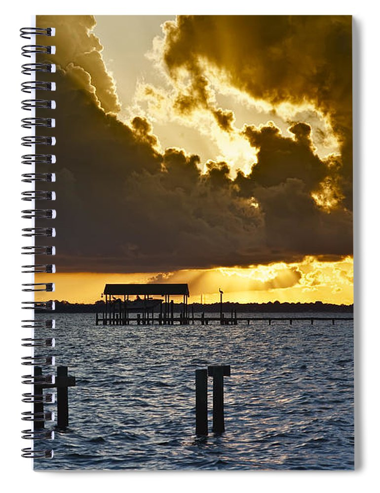 Bay Spiral Notebook featuring the photograph Courtship by Janet Fikar