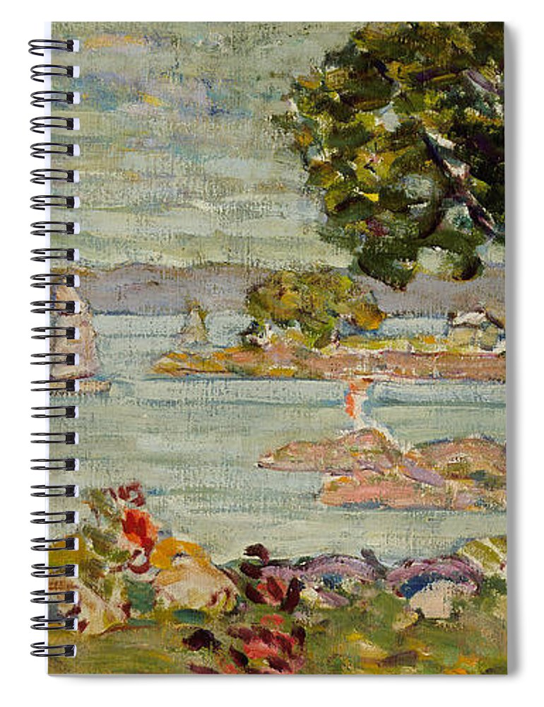 Prendergast Spiral Notebook featuring the painting Cove Maine by Maurice Brazil Prendergast