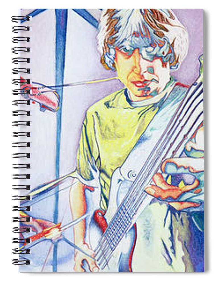Phish Spiral Notebook featuring the drawing Coventry Phish by Joshua Morton