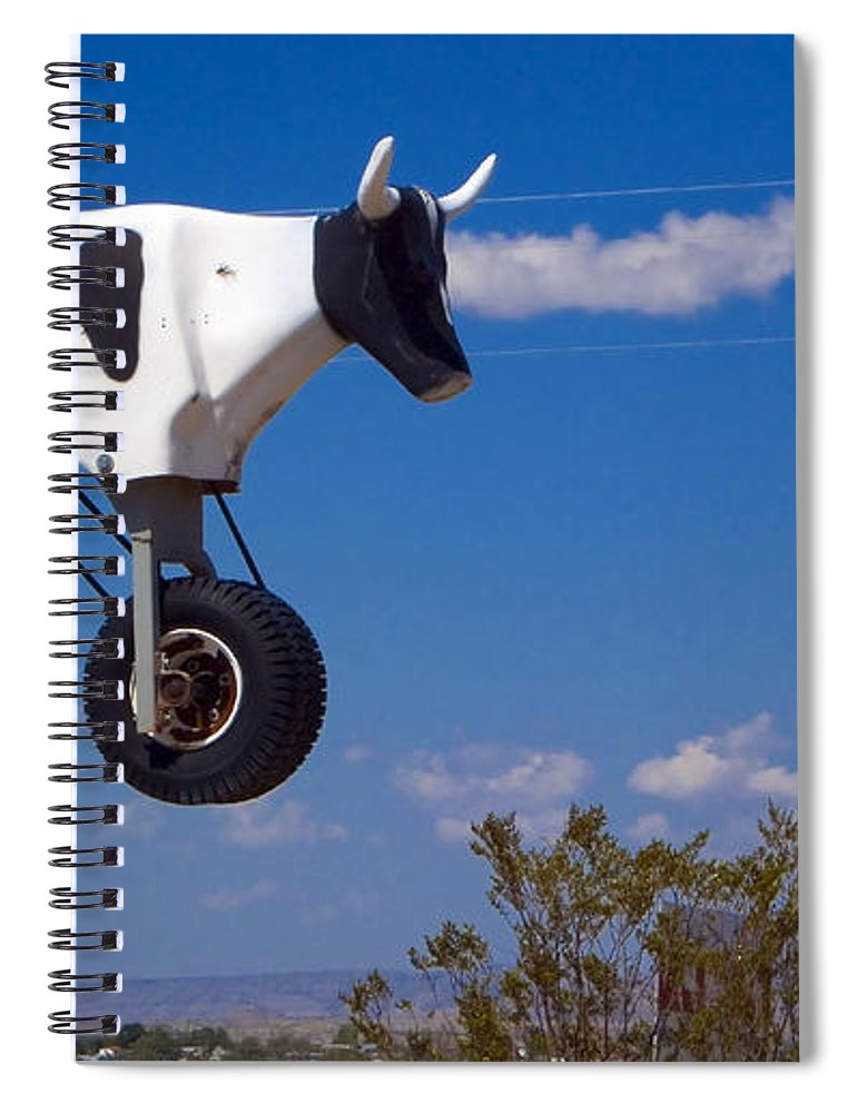 Cow Spiral Notebook featuring the photograph Cow Power by Skip Hunt