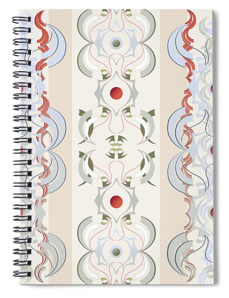 Beige Spiral Notebook featuring the digital art Crane by Ceil Diskin