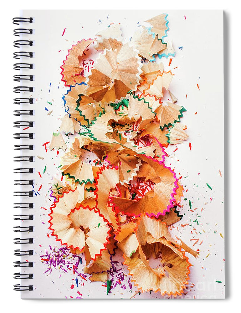 School Spiral Notebook featuring the photograph Creative Mess by Jorgo Photography - Wall Art Gallery