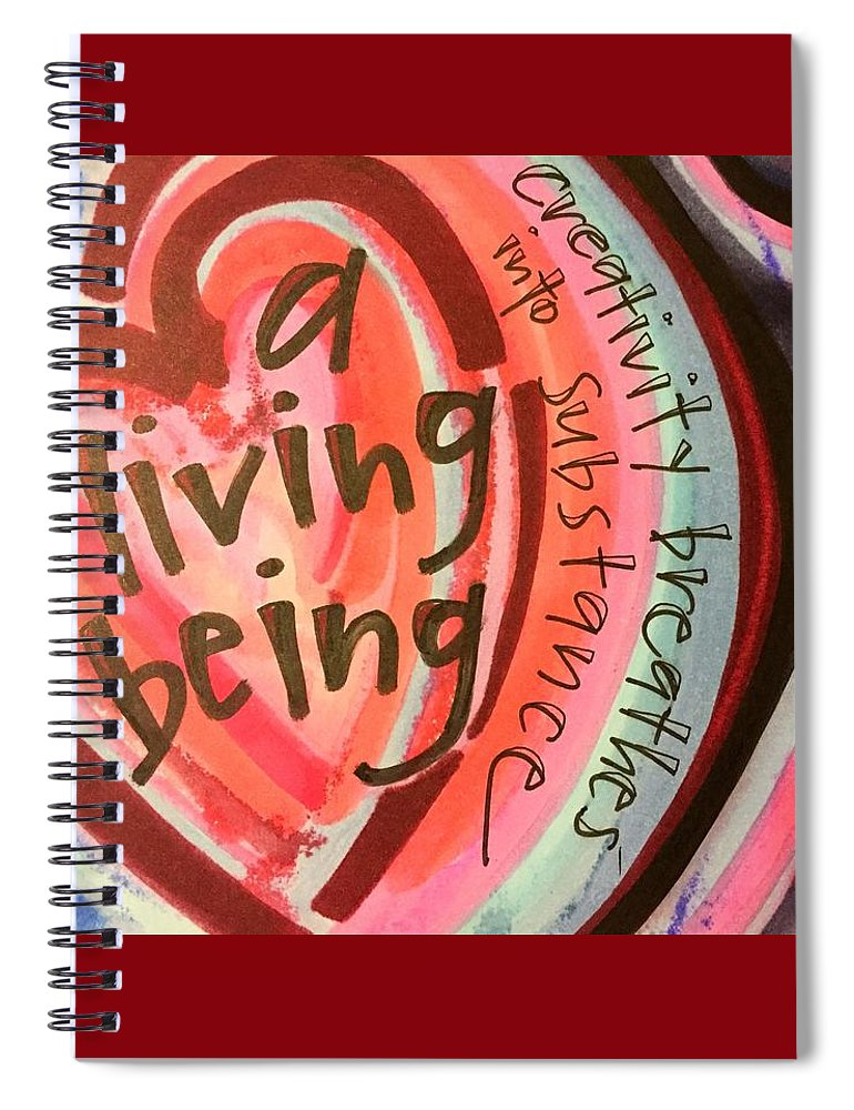 Creativity Spiral Notebook featuring the painting Creativity Breathes by Vonda Drees