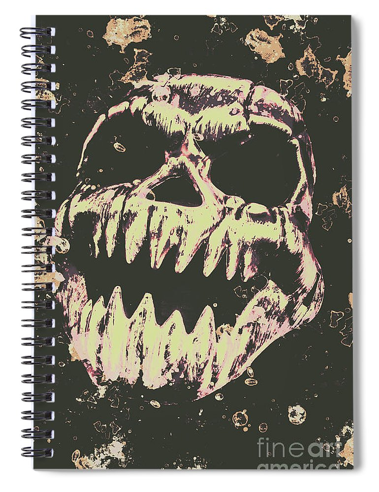 Monster Spiral Notebook featuring the photograph Creepy Face From Nightmares Past by Jorgo Photography - Wall Art Gallery