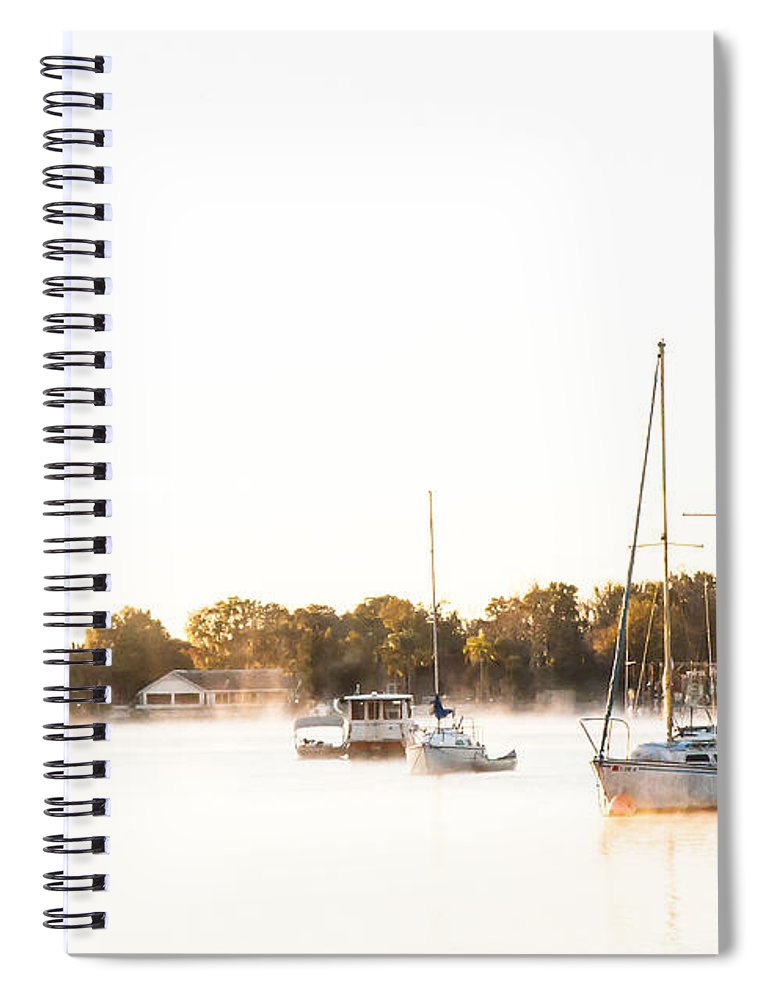 Sailboat Spiral Notebook featuring the photograph Crystal River Anchorage by Norman Johnson