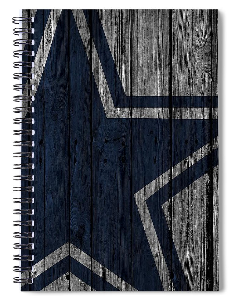 a58219892 Dallas Cowboys Wood Fence Spiral Notebook