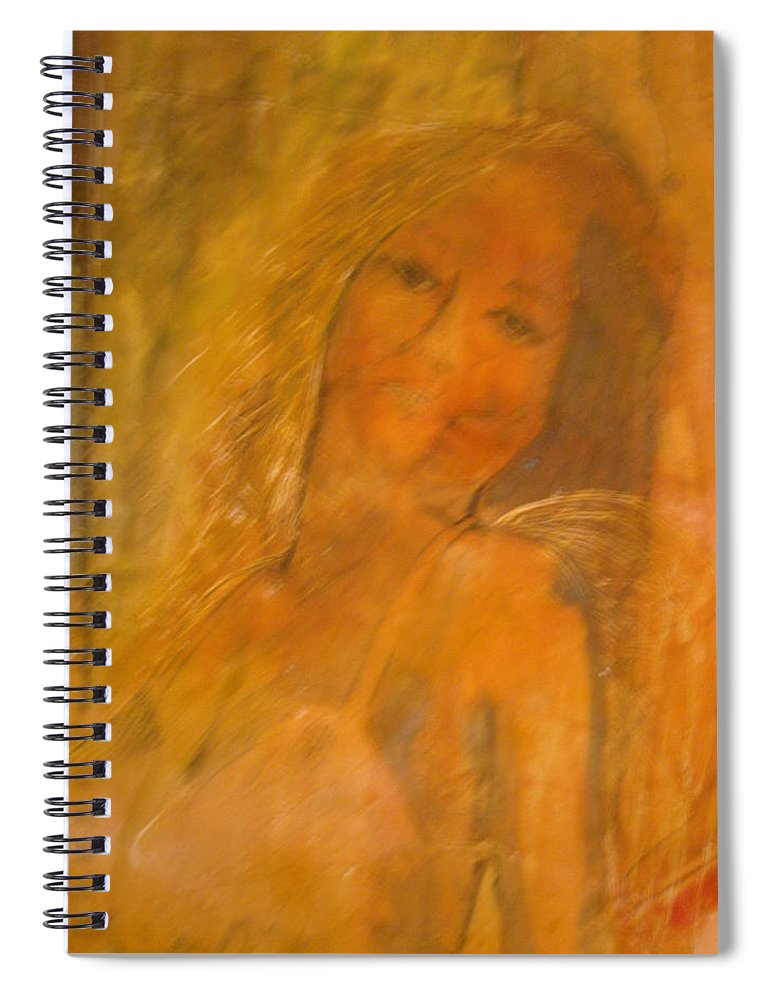 Angels Spiral Notebook featuring the painting Dance of Angels by JBauer