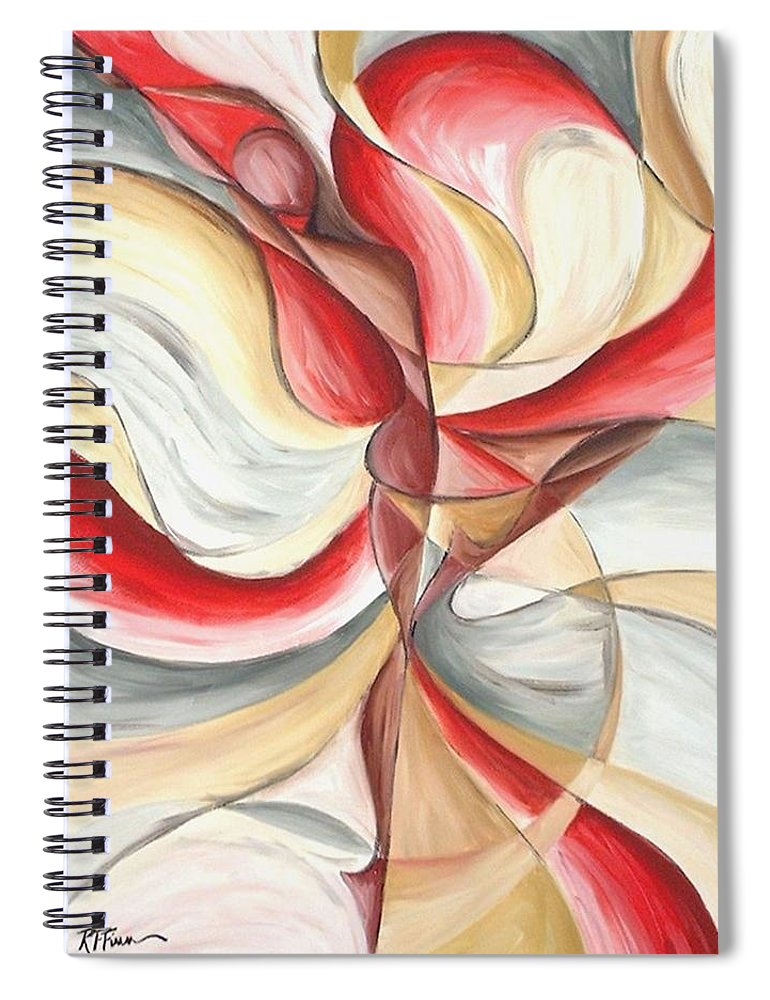 Figure Spiral Notebook featuring the painting Dancer II by Rowena Finn