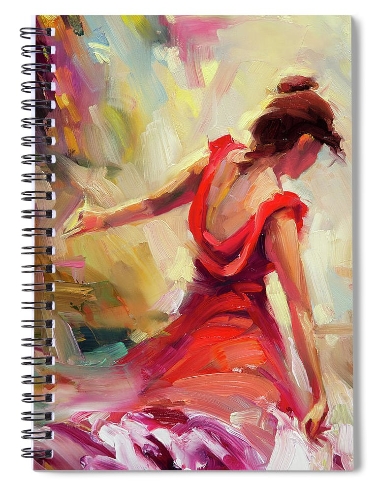 Dancer Spiral Notebook featuring the painting Dancer by Steve Henderson