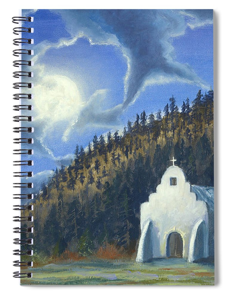 Landscape Spiral Notebook featuring the painting Dancing In The Moonlight by Jerry McElroy
