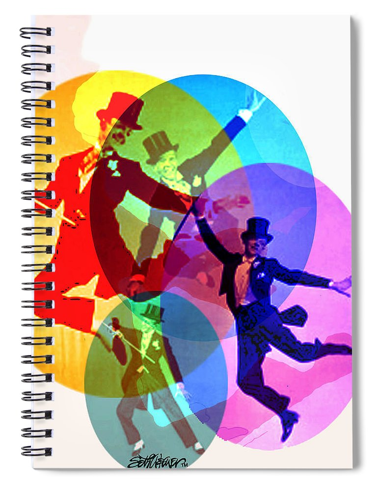 Dancing On Air Spiral Notebook featuring the digital art Dancing on Air by Seth Weaver