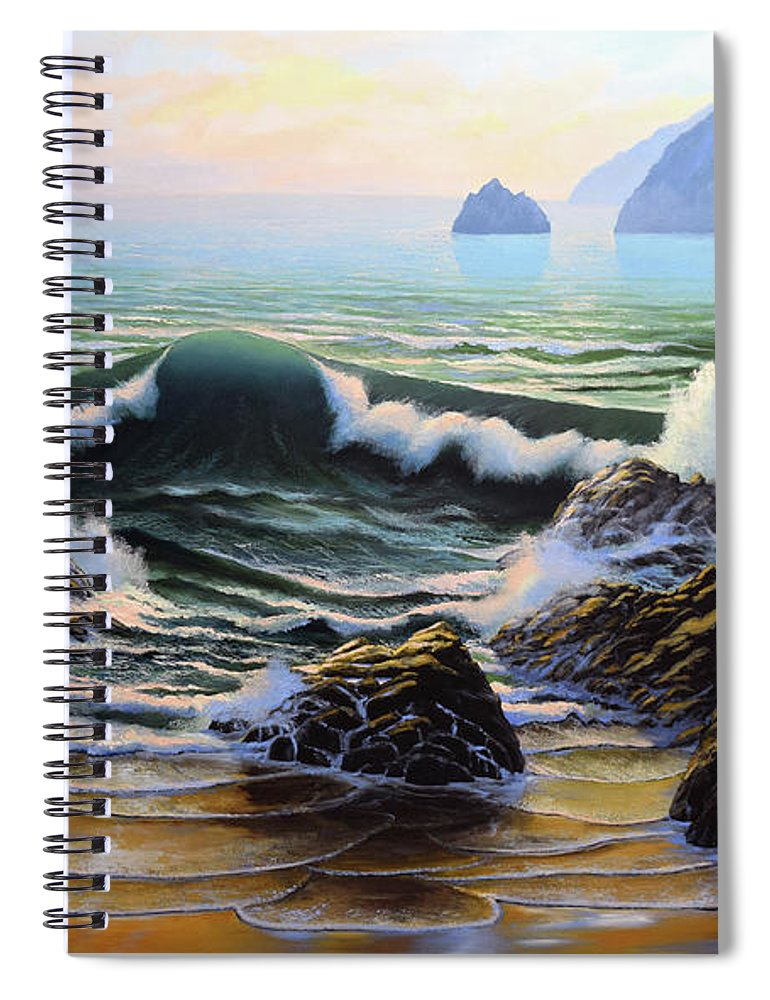 Dancing Tide Spiral Notebook featuring the painting Dancing Tide by Frank Wilson