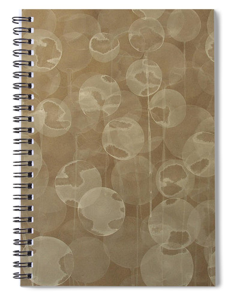 Abstract Spiral Notebook featuring the painting Dandelion by Jitka Anlaufova