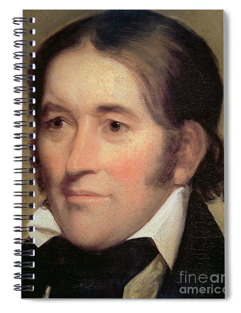 Davy Crockett Spiral Notebook featuring the painting Davy Crockett by John Neagle