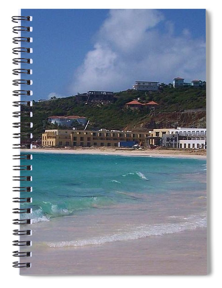 Dawn Beach Spiral Notebook featuring the photograph Dawn Beach by Debbi Granruth