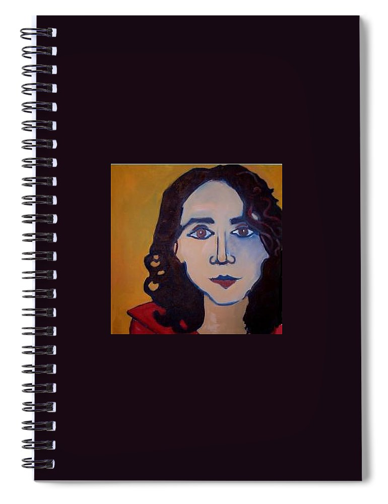 Greek Woman Spiral Notebook featuring the painting Denise Closeup by Debra Bretton Robinson