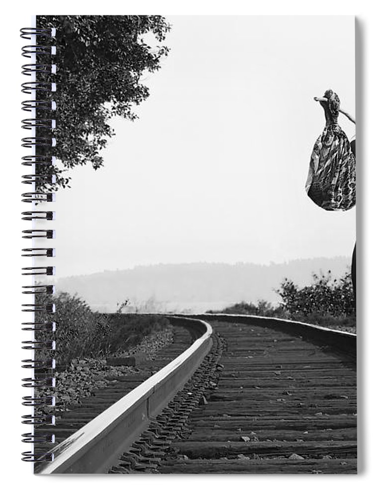 Nude Spiral Notebook featuring the photograph Derailed by Davids Pixels